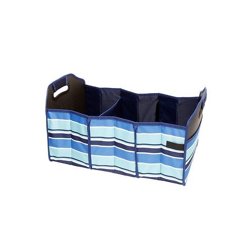 Shopping Cart & Trunk Organizer Tote - Blue Stripe