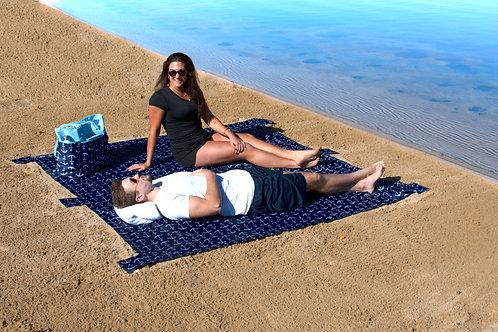 Lightweight Waterproof Blanket - Blue Large Anchor