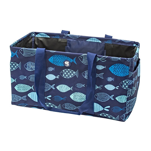 Large Utility Tote - Blue Fish
