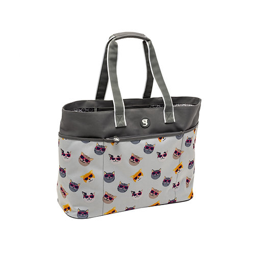 Oversized Beach Tote - Summer Cats