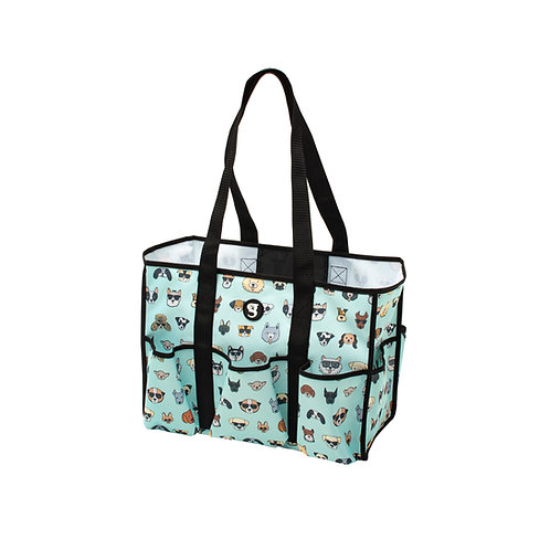 8 Pocket Tote - Summer Dogs