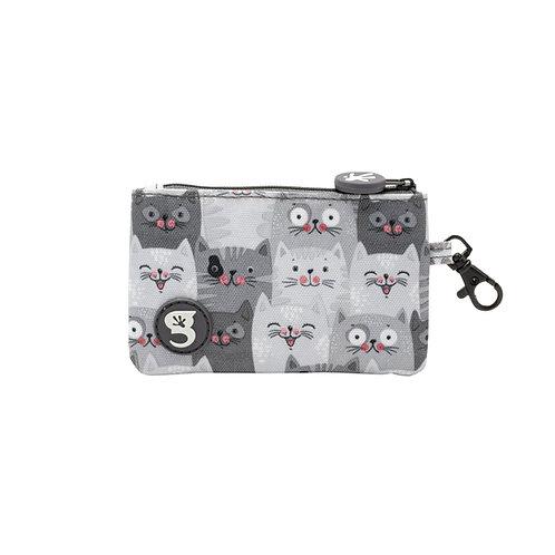 ID Case Wallet W/ Clip - Cats