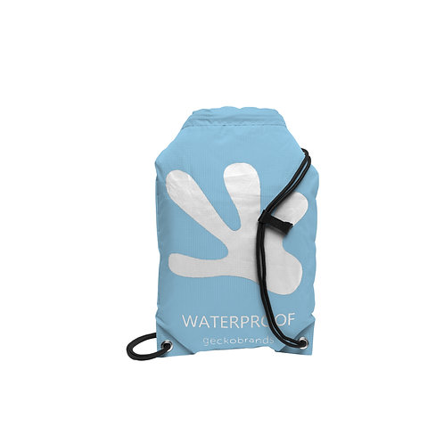 Drawstring Waterproof Backpack - Caroline Blue/White
