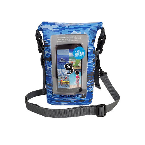 Waterproof Phone Tote - Ocean geckoflage