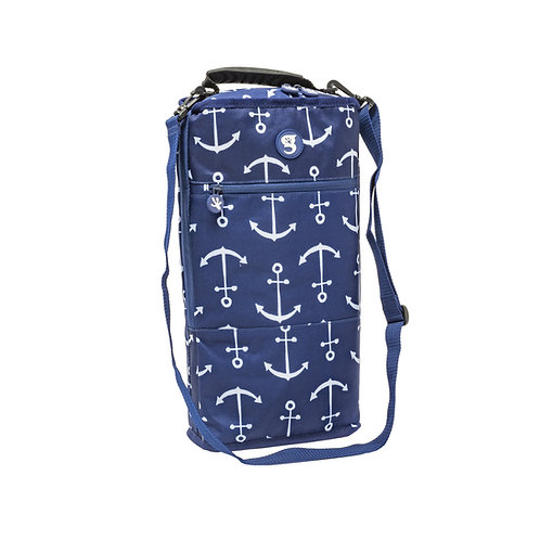 Verticool Cooler - Blue Large Anchor - Fits up to 9 cans