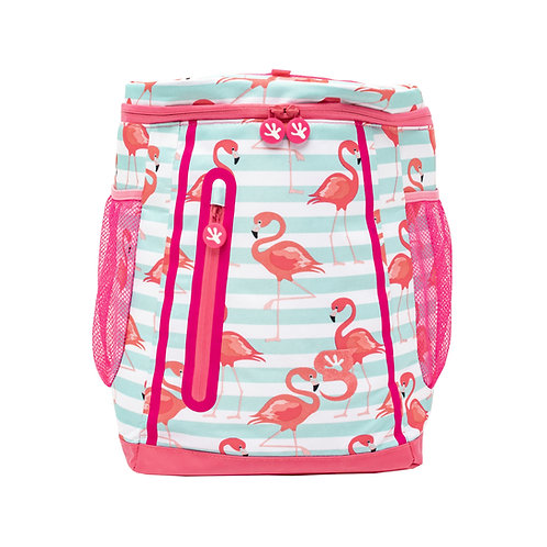 Opticool Backpack Cooler - Flamingo Stripe