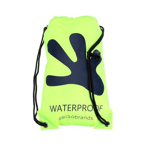 Drawstring Waterproof Backpack - Neon Green/Navy