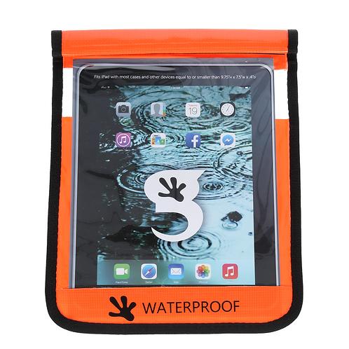 Waterproof iPad/Large Tablet Dry Bag - Orange