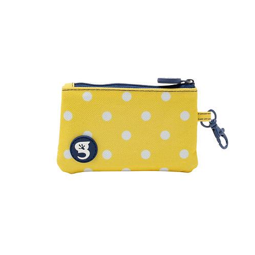 ID Case Wallet W/ Clip - Yellow Polka Dot