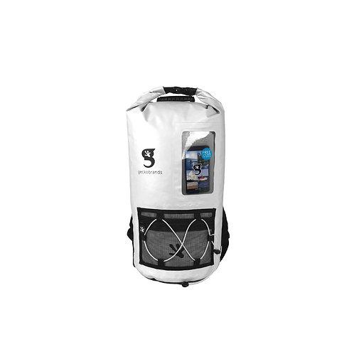 Hydroner 20L Waterproof Backpack - White/Black