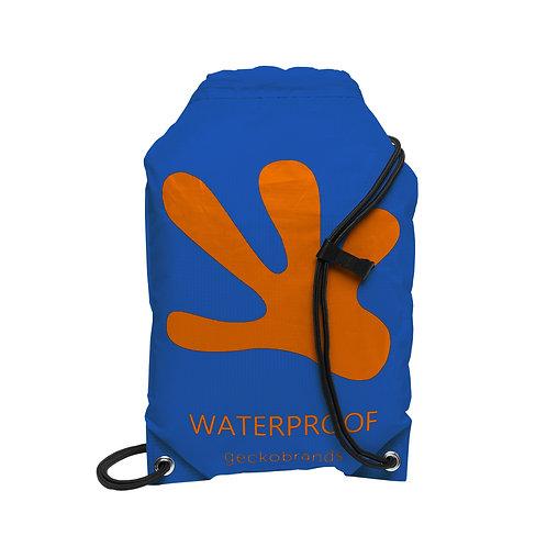 Drawstring Waterproof Backpack - Royal Blue/Orange