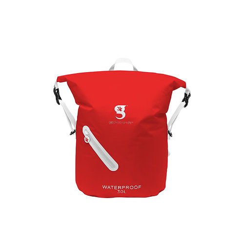Lightweight 30L Waterproof Backpack - Red/White