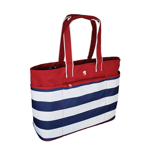 Oversized Beach Tote - Red/White/Blue Stripe