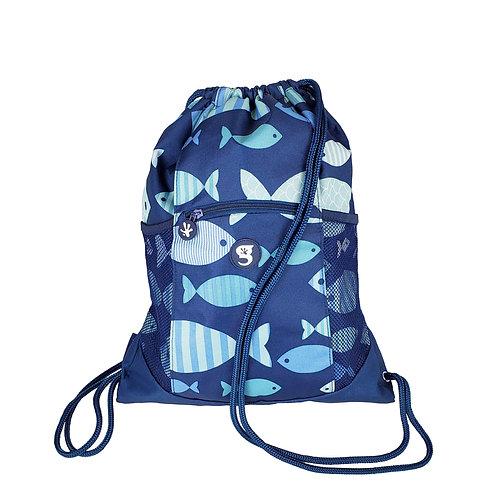 Drawstring Backpack - Fish