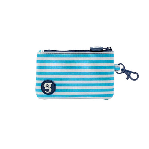 ID Case Wallet W/ Clip - Light Blue Stripe