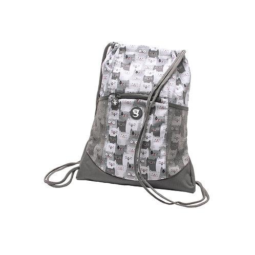 Drawstring Backpack - Cats