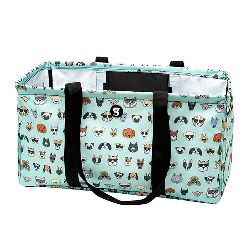 Large Utility Tote - Summer Dogs