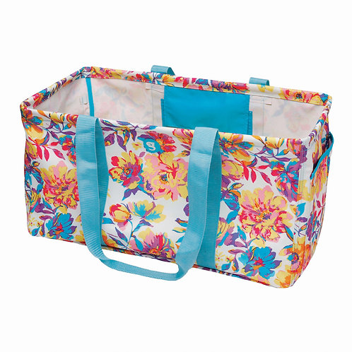Large Utility Tote - Watercolor Floral