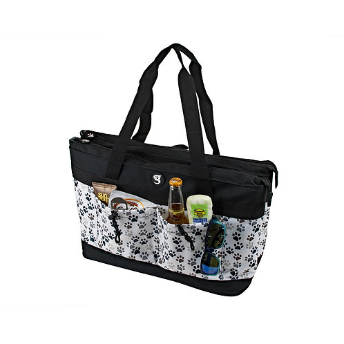 2 Compartment Tote Cooler - Paws