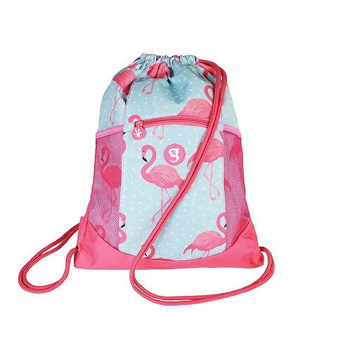Drawstring Backpack - Flamingo