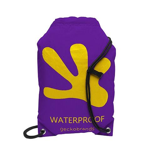 Drawstring Waterproof Backpack - Purple/Yellow