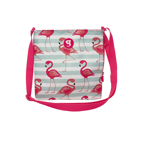 Crossbody Bag - Flamingo Stripe