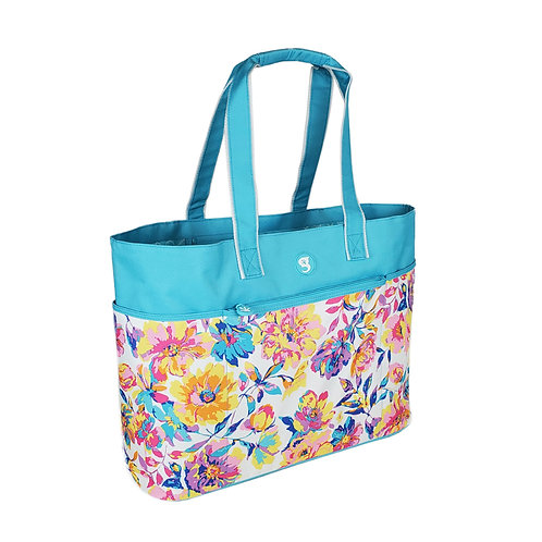 Oversized Beach Tote - Watercolor Floral