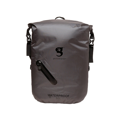 Lightweight 30L Waterproof Backpack - Grey/Black