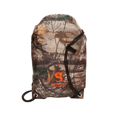 Drawstring Waterproof Backpack - Realtree Edge Camo