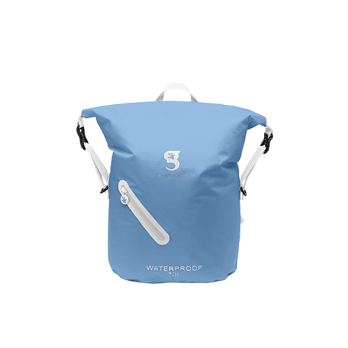 Lightweight 30L Waterproof Backpack - Carolina Blue/White