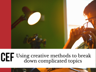 Using creative methods to break down complicated topics