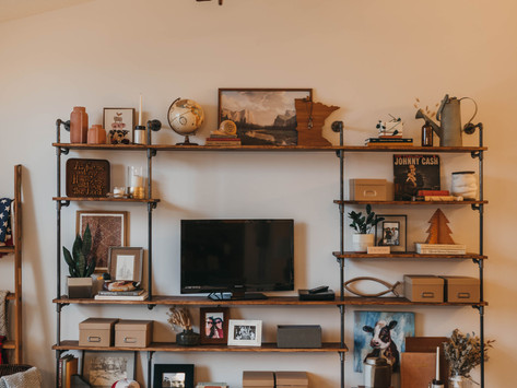 Home DIY Part One: Wood + Pipe Shelving