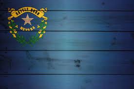 Nevada Flag on Wood