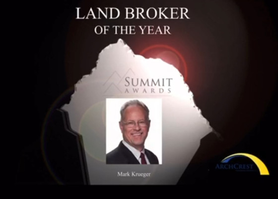 Mark Krueger Takes Home 11th Land Broker of the Year Summit Award