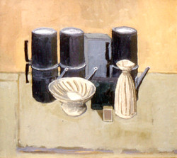 Still life coffee pots