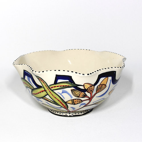 LARGE FLUTED MIXING BOWL  #10
