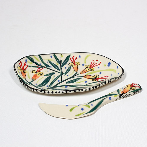 BUTTER DISH WITH KNIFE #1