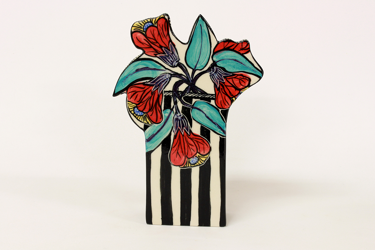 stripy_wall_vase_in_chinese_lantern