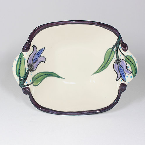 LILAC TULIP BOWL WITH HANDLES  #15