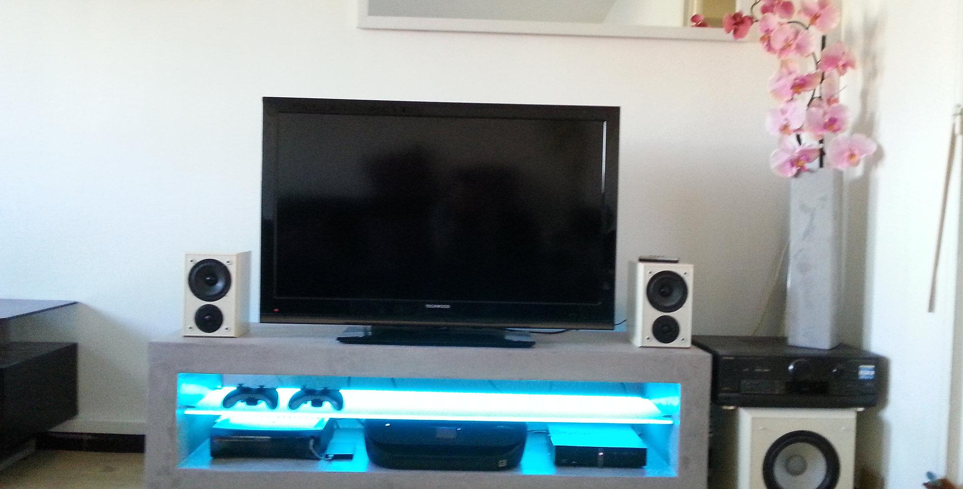 Meuble En Béton Ciré meuble tv béton ciré