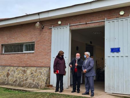 Virginia Cornejo y Martín Grande se interiorizaron sobre el proyecto solidario de la UCASal