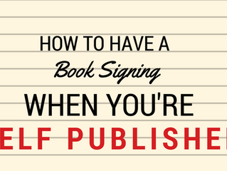 Book Signing as a Self-Published Author