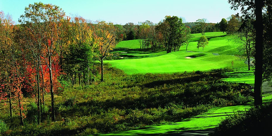 From the tee on number 6 at Mansion Ridge, Monroe, New York