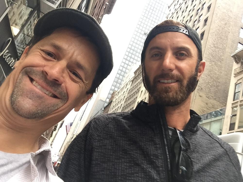 Dustin Johnson on 45th street in New York City