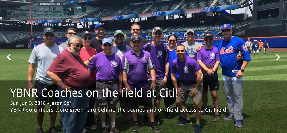 YBNR coaches clinic at Citi Field with Met's infield coach Gary DiSarcina