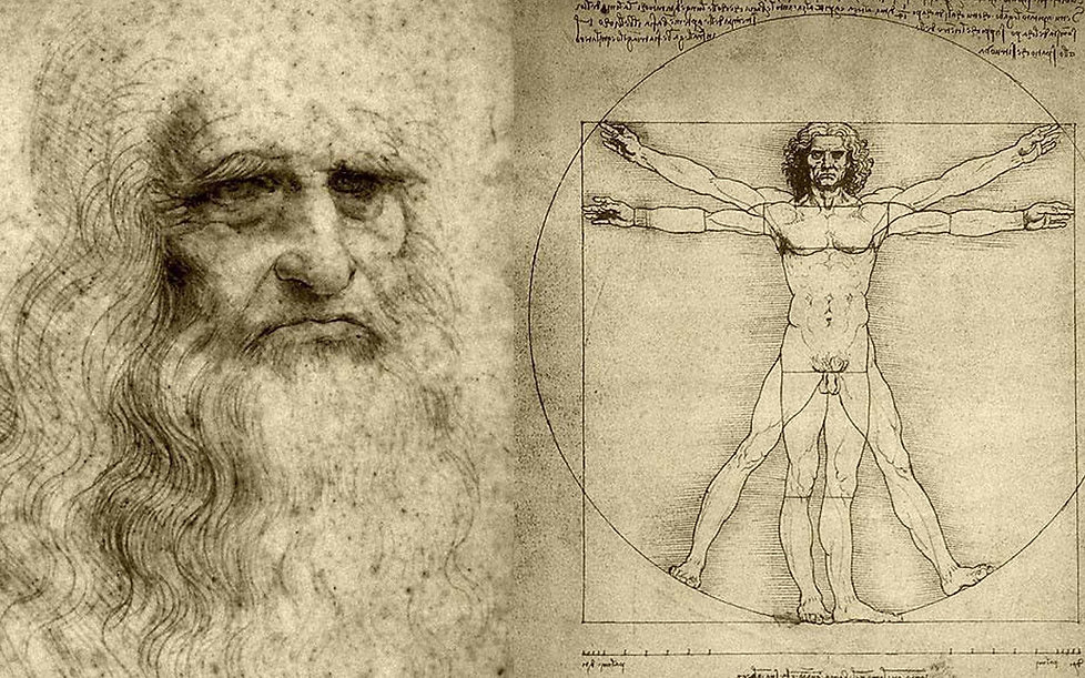 Leonardo Da Vinci with Vitruvian Man
