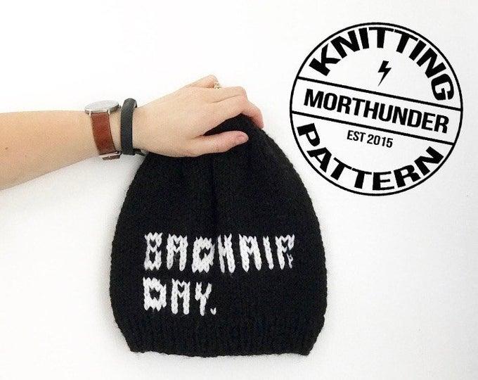 Bad Hair Day Knitting Beanie Pattern