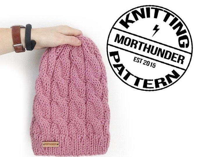 Beautiful Cable Knitting Beanie