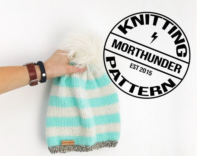 Big Stripes Basic Knitting Beanie