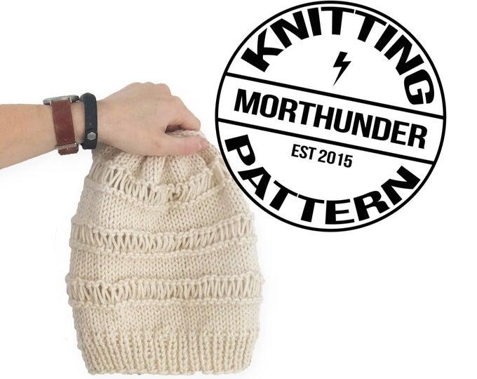 Simple Drop Stitch Knitting Beanie